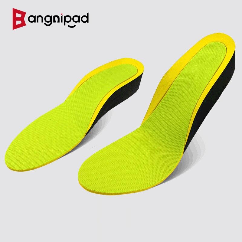 BANGNIPAD Increased Insole 3.5 cm Sweat Absorption Deodorization Shock Absorption Comfortable Heel Stable Non-Slip Shoe pad