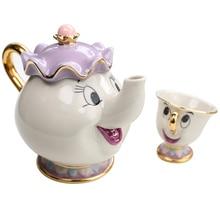 2020 Cartoon Beauty And The Beast Teapot Mug Mrs Potts Chip Tea Pot Cup One Set Lovely Christmas Gift Drop Shipping