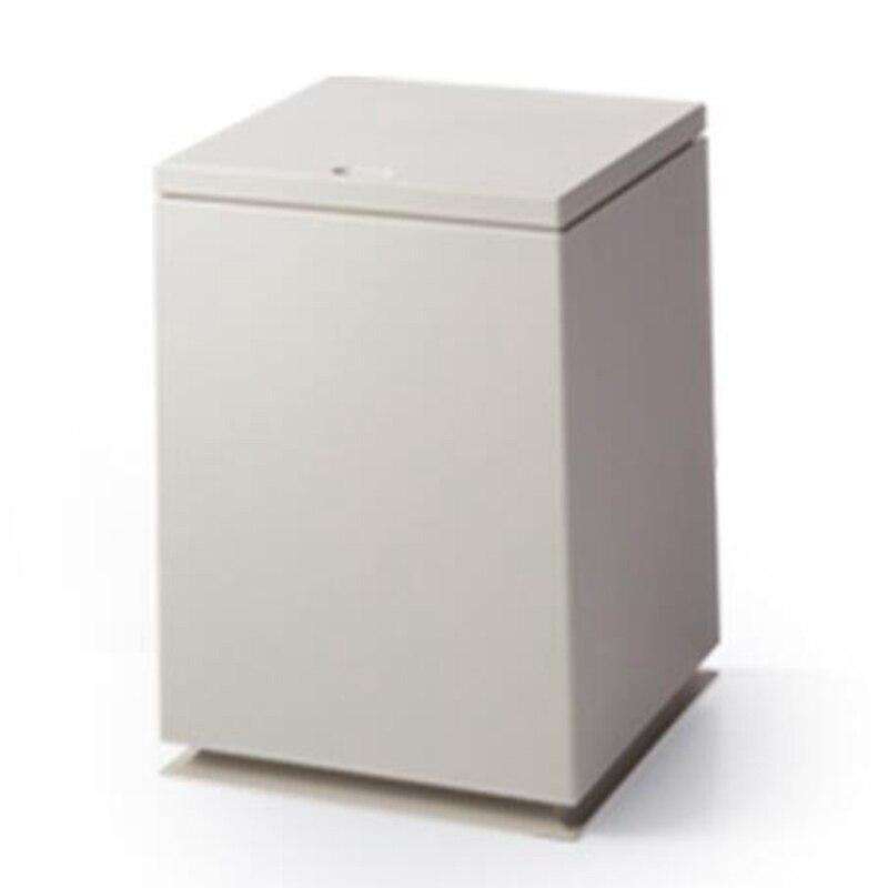 Cubo de basura japonés de doble capa de plástico para sala de estar, Cubo de baño Za Wu Tong, Cubo de almacenamiento caqui