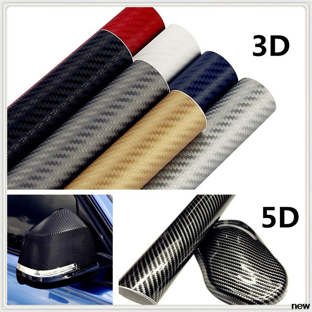Pegatinas de vinilo de fibra de carbono 3D 5D de 30x127cm para Ford Taurus Mondeo Galaxy Falcon Everest S-MAX Escort