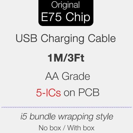 Cable de carga USB Original E75 Cable de chips grado AA 5ICs MD818 Cable USB para iPhone 10 unids/lote envío gratis