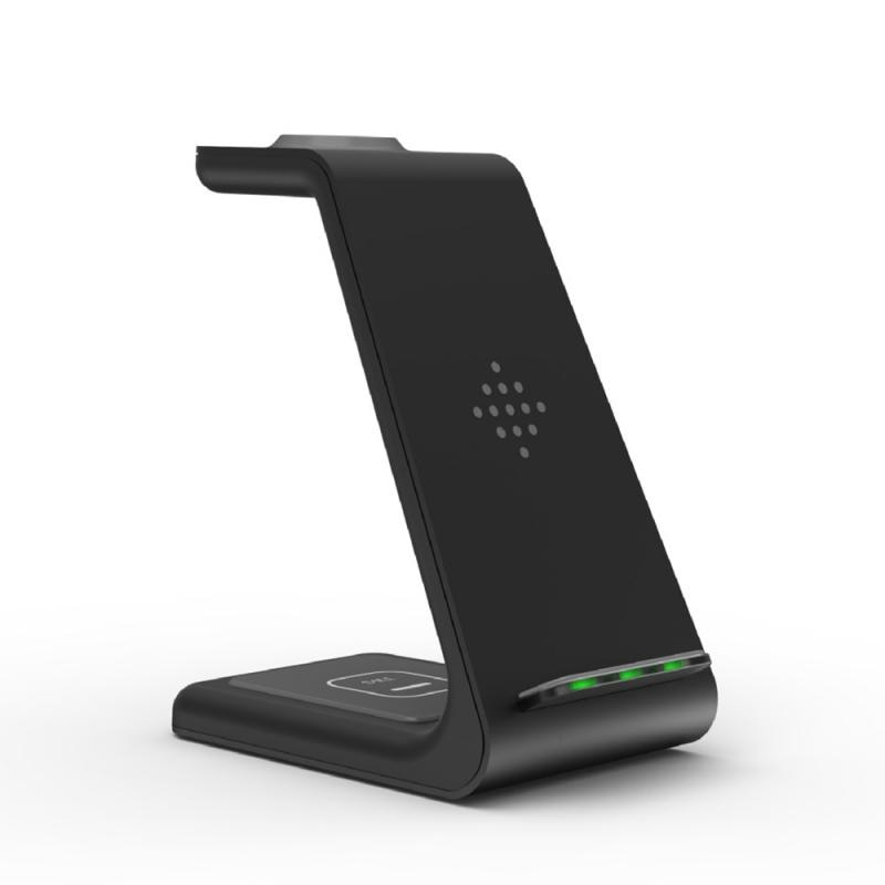QI 3 In 1 Wireless Charger For  Pro/Iwatch 5/4 Fast Charge Wireless Charge Stand For Samsung S10/Bud/Watch enlarge