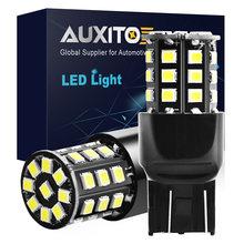AUXITO 2PCS T20 LED Light Bulb 7443 W21/5W W21W WY21W LED Car Turn Signal Brake Lights DRL 2835 33 SMD White 6000K Auto Lamp 12V