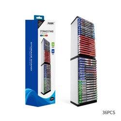 Vertical duplo deck 36 pçs suportes de cartão de jogo caixa de armazenamento suporte torre vitrine para ps5/ns switch/xboxone console cd discos