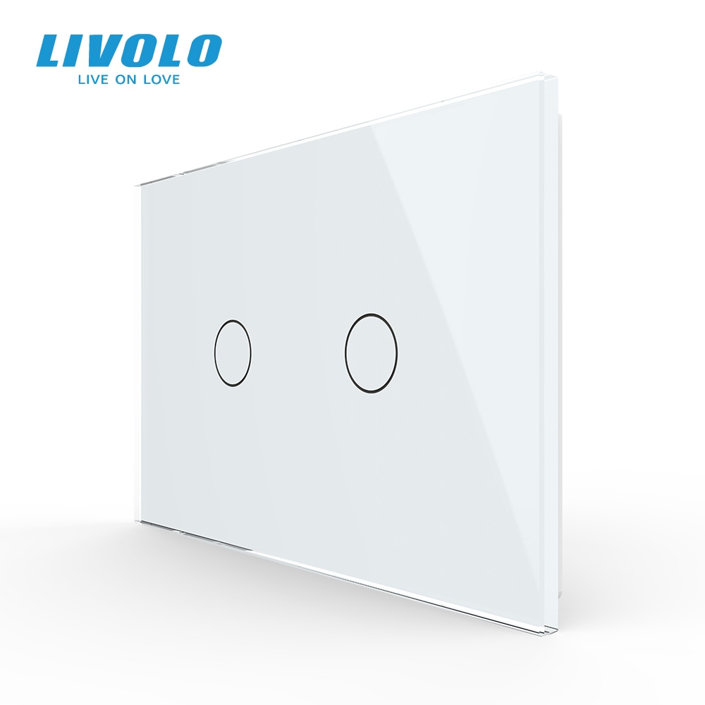 LIVOLO الولايات المتحدة القياسية C9 سلسلة جديدة جدار لوحة شاشة لمس التبديل ، والزجاج والكريستال ، التيار المتناوب 110-220 فولت ، شاشة عرض الخلفية ، ...