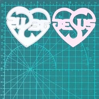 heart shape hollow jesus letter metal cutting die real picture cut die scrapbook paper craft knife mould blade punch stencil die