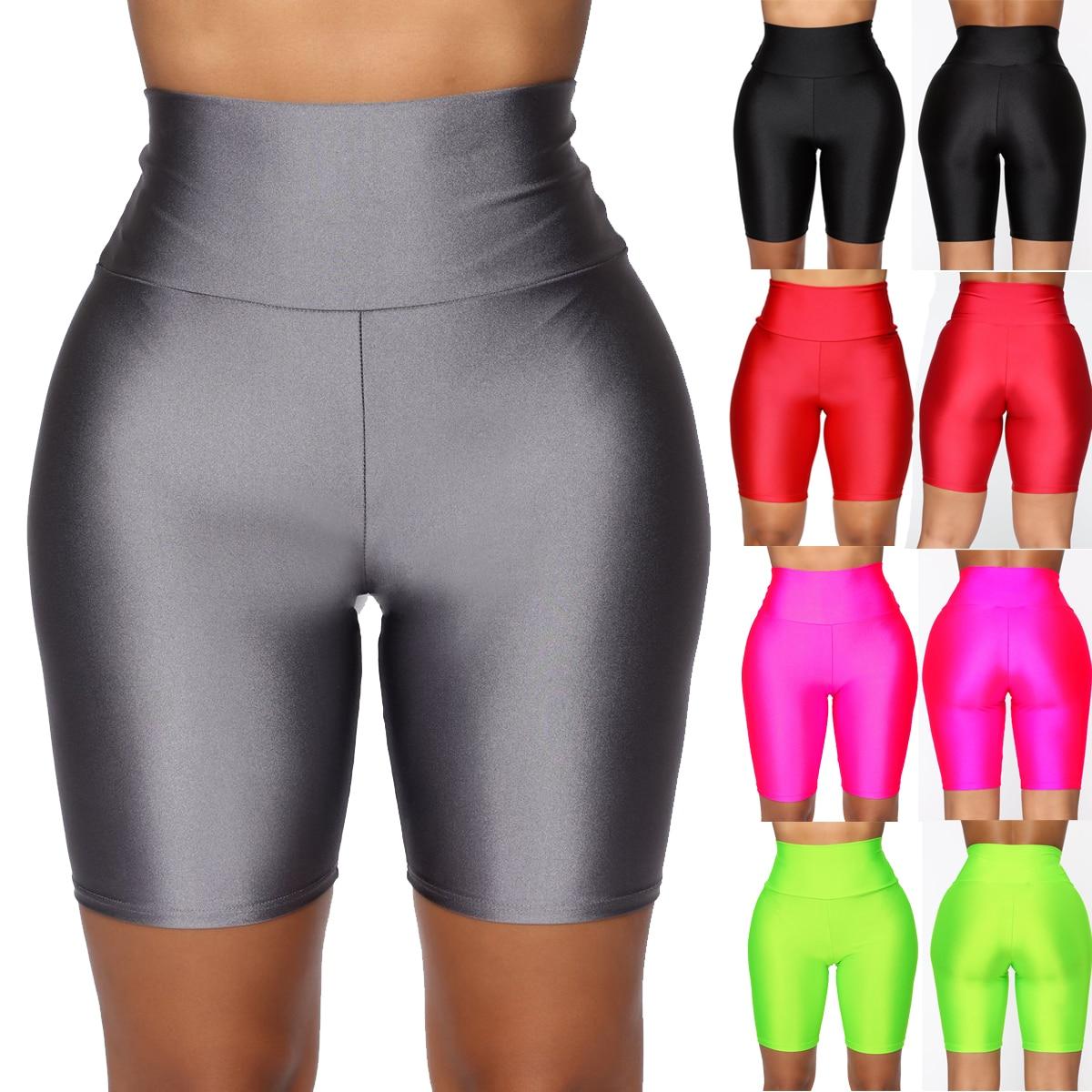 Hirigin גבוהה מותן ניאון נשים מכנסי יוגה אימון כושר אימון היפ אלסטי ספנדקס מכנסיים סקיני ריצת רכיבה על אופניים ספורטוויר
