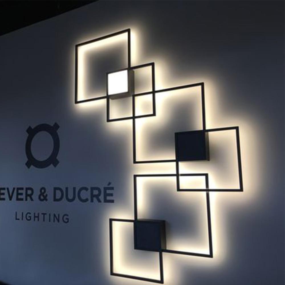 Zerouno-مصباح سقف LED مع شخصيات مضيئة ، وحدات إضاءة خلفية للمنزل ، الفندق ، الدور العلوي ، DIY