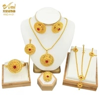 arabic gold jewelry sets for women ethiopian eritrean bride dubai gold color african indian ethnic wedding necklace with stone