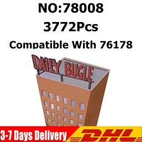 IN STOCK 3700PCS Movie Series 76178 Daily Bugle Tower Building Blocks Office Bricks Heroes Model DIY Educational Toys Kids Gifts