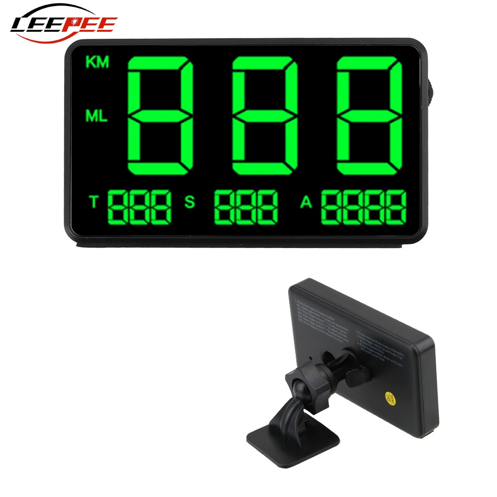 LED Digital Car HUD Display Head Up GPS Speedometer Odometer On-board Computer Alert Kit Auto Projec