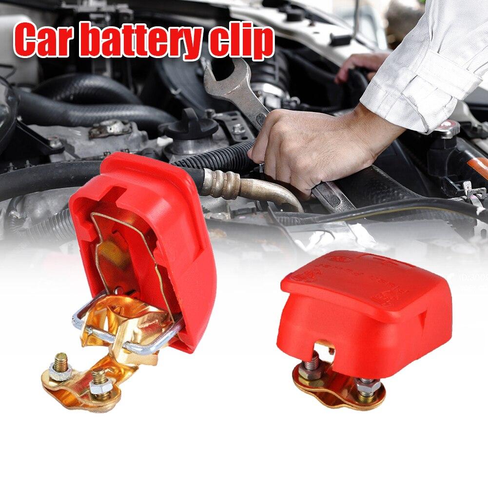 2 pièces bornes de batterie de voiture universelles de haute qualité pinces de connecteur