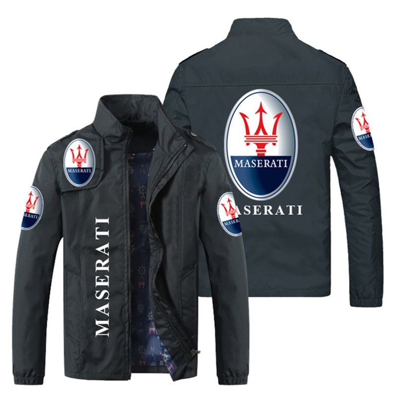 2021 new power men's zipper stitching printing quick-drying jacket men's casual fashion long-sleeved loose sportswear size S-5XL