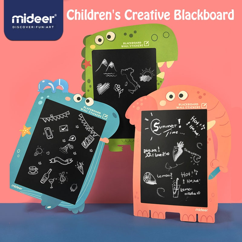 MiDeer الاطفال الفن الأطفال السبورة ملصقا الطفل التدريس الكتابة على الجدران الرسم مجلس السبورة الجدار ملصق لعب للأطفال