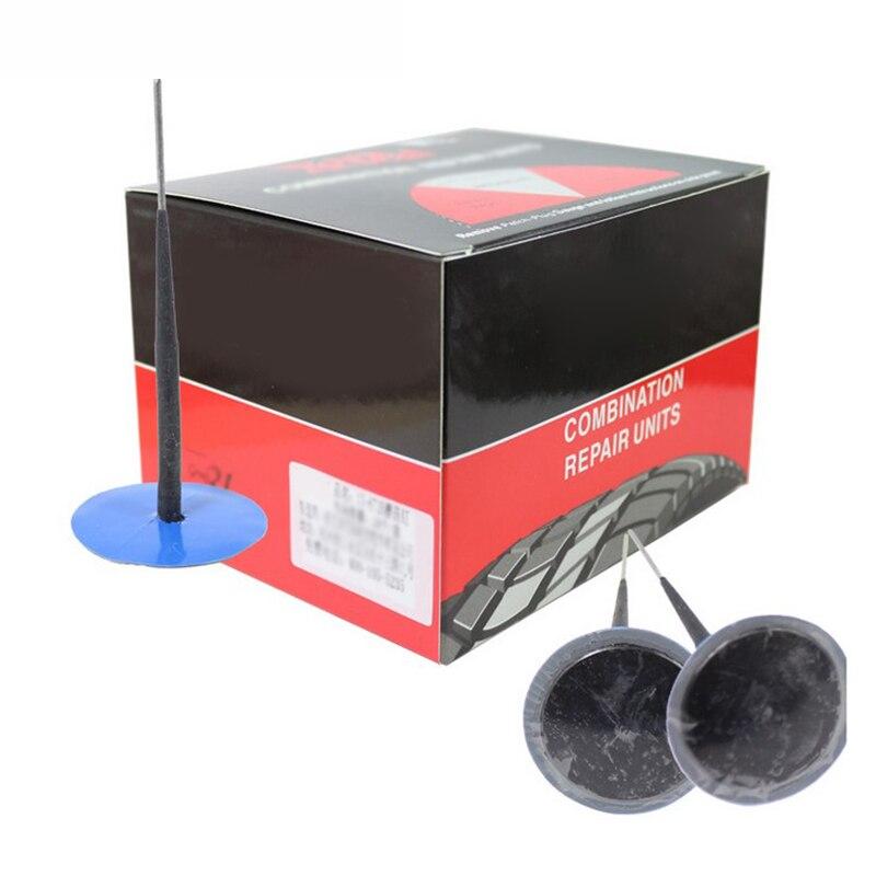 24 pces universal de borracha pneu punctura reparação wired plug cogumelo ferramenta remendo 36mm acessórios do carro