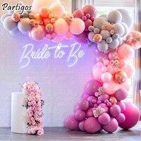 119pcs pastel pink rose red latex balloons garland kit set wedding decorations globos chain birthday engagement bridal decors