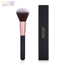 Docolor 1 adet büyük pudra fırçası klasik makyaj fırçası güzellik esansiyel kozmetik fırça yumuşak sentetik saç makyaj araçları