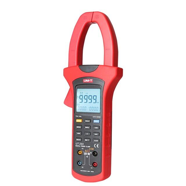 Ut233 multímetro de braçadeira de qualidade de energia digital, & analisador, verdadeiro rms 3-phase power active reativo