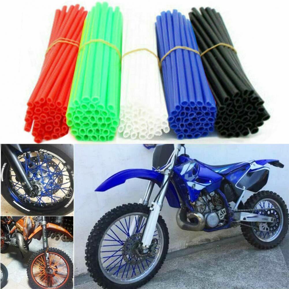 Пластиковые декоративные Чехлы для спиц, 72 шт., легкие Чехлы для спиц, не выцветают для горного велосипеда