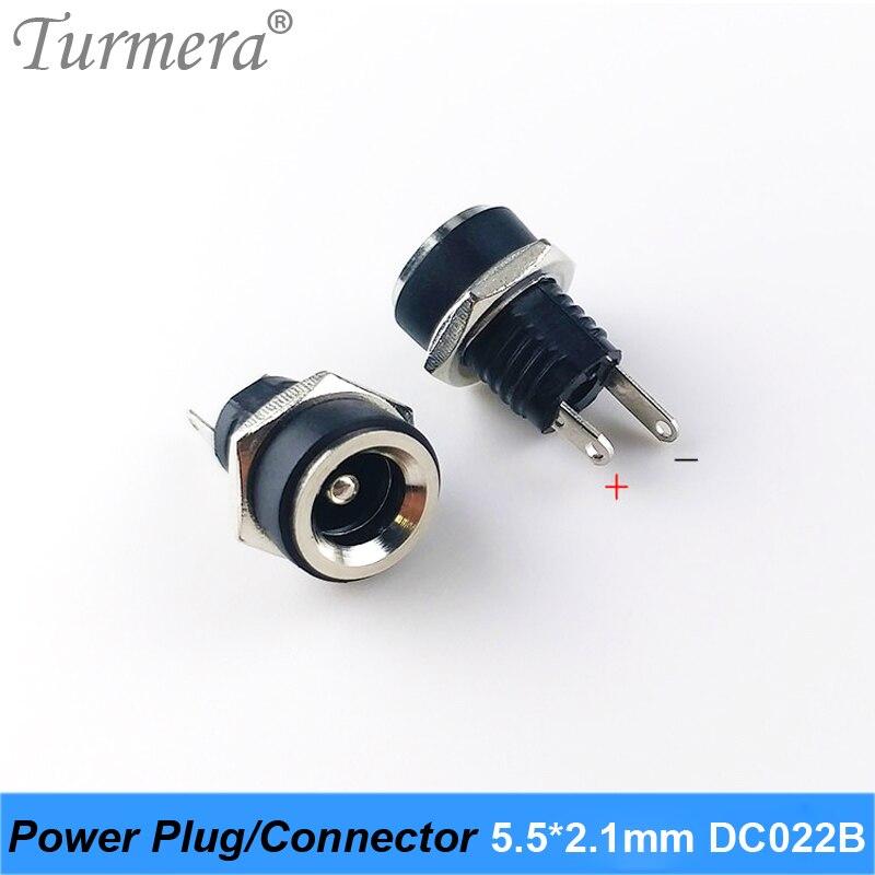 Diy dc impermeable jack de alimentación DC conector de clavija para diy dc impermeable conector jack DC022B 5,5X2,1mm 5 unids/lote Turmera