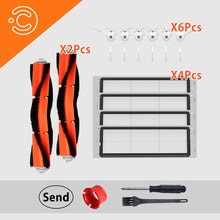 Vacuum cleaner HEPA side brush main brush filter accessory for Xiaomi 1.2 roborock s50 s51 s6 vacuum cleaner parts