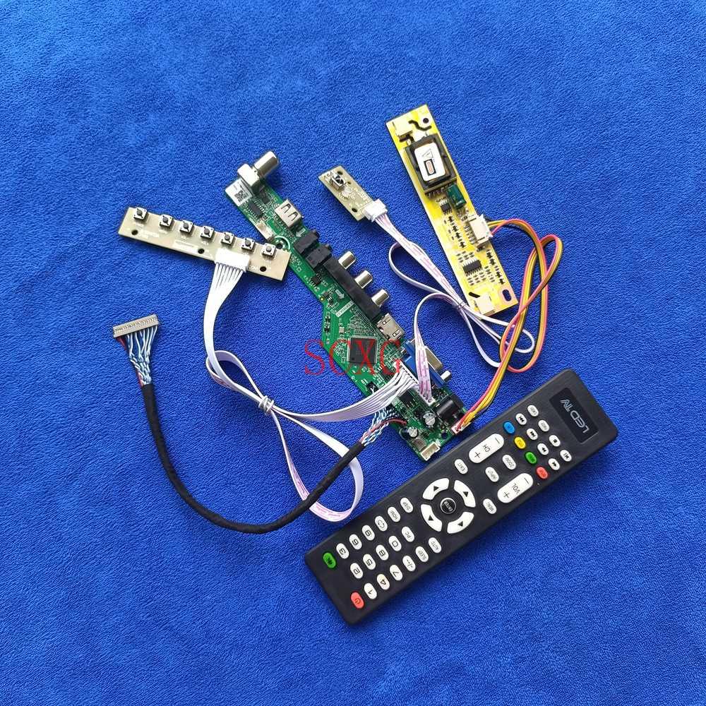 2CCFL LVDS 20 دبوس صالح G150XG01/M150XN06/M150XN07/HT150X02 1024*768 HDMI متوافق USB VGA kitالتناظرية إشارة مصفوفة لوحة للقيادة