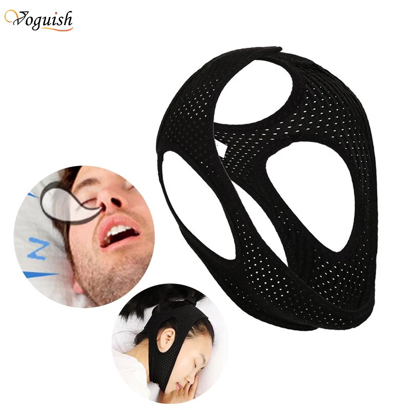 Anti Snoring Sleeping Chin Strap Best Stop Device Adjustable Snore Reduction Belt Sleep Aids Strips for Unisex