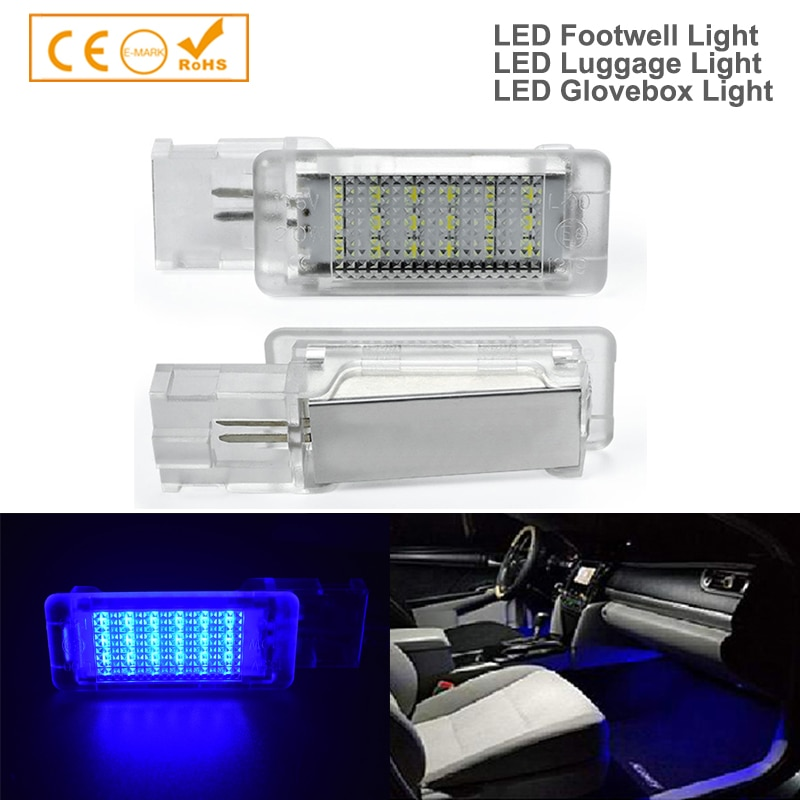 AliExpress - 2x For skoda superb VW Caddy Eos Golf Plus Jetta LED Footwell Boot under door courtesy Luggage compartment Glove box light Lamp