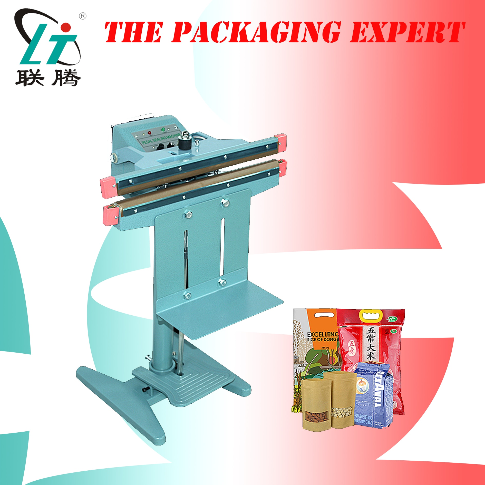Pouch Bag Sealing Machine With Foot Pedal Switch Impulse Sealer Composite Aluminum Foil Sealer Foil Double Sides Heating