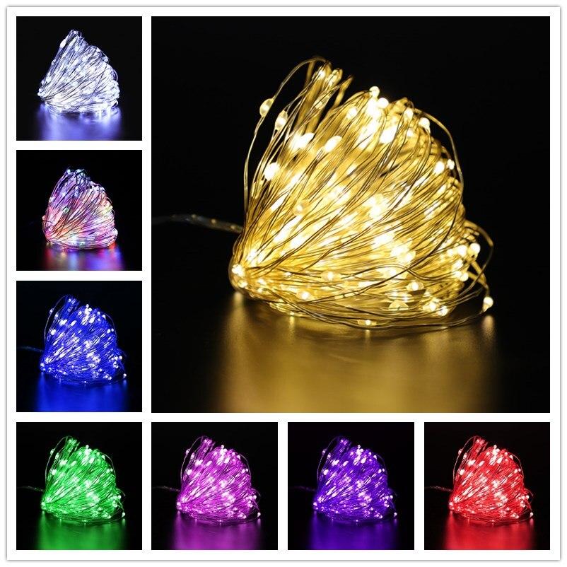 Fée lumières USB/guirlande sur piles 10m LED guirlandes lumineuses étanche pour extérieur lumières de noël mariage décoration de noël