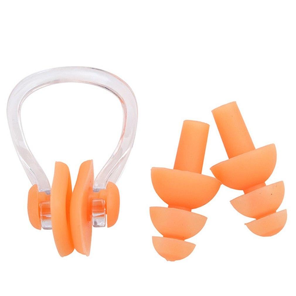Tapones de oídos para natación Clip de nariz funda protectora para prevenir protección de agua tapón de oído de silicona suave natación buceo suministros