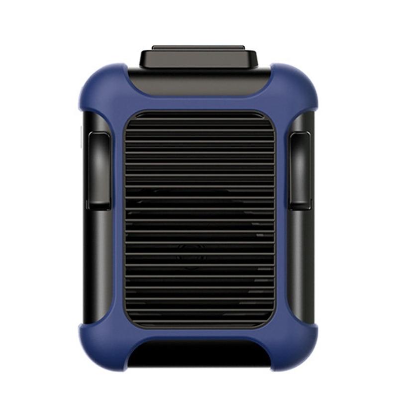Mini ventilador portátil SANQ con Clip para la cintura, ventilador USB recargable, aire acondicionado de 4000Mah para trabajo exterior, Camping y Pesca