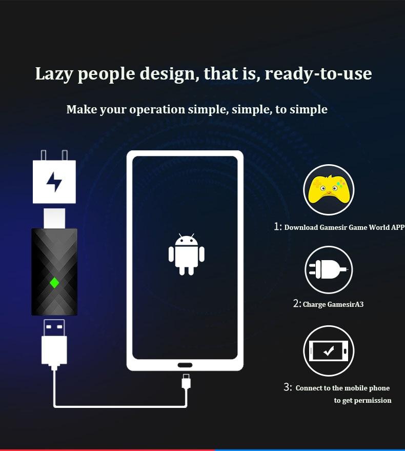 Gamesir A3 Ranger активатор для телефона Android планшет King Play Glory мобильные игры G6 G5 G4 G3 T6 T4 T1 Универсальный геймпад