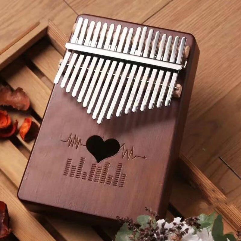 Piano de Madeira Criativa com Acessórios Chaves Kalimba Polegar Alta Qualidade Mbira Corpo Instrumentos Musicais Piano Caixa Música 17