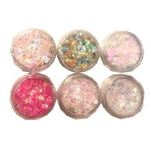 24 Colors Diamond Eyeshadow Sequins lasting Shimmer Glitter Gel Mermaid Sequins Powder Makeup Party