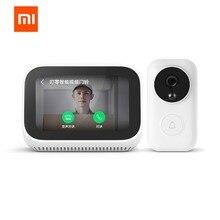 Xiaomi ai xiaoai 스피커 얼굴 터치 스크린 스피커 블루투스 디지털 디스플레이 알람 시계 wifi 스마트 연결 vedio doorbell