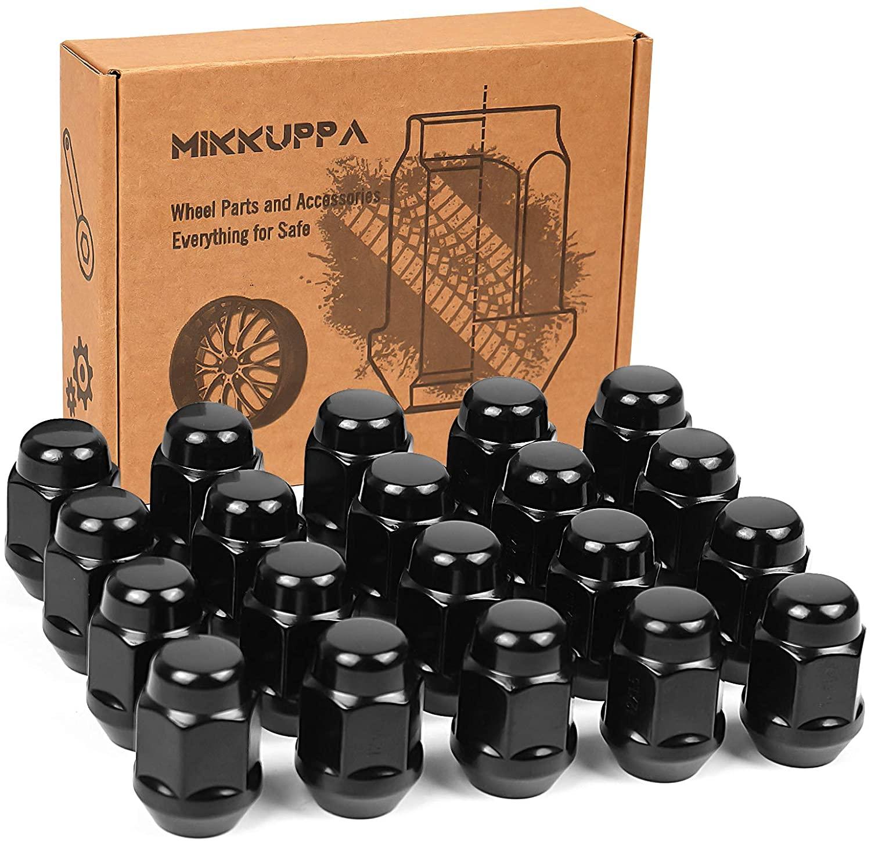 M12x1.5 العروة المكسرات استبدال لفورد فيوجن/فورد فوكس/فورد إسكيب مسج عجلة 20 قطعة نهاية مغلقة الأسود العروة الصلبة