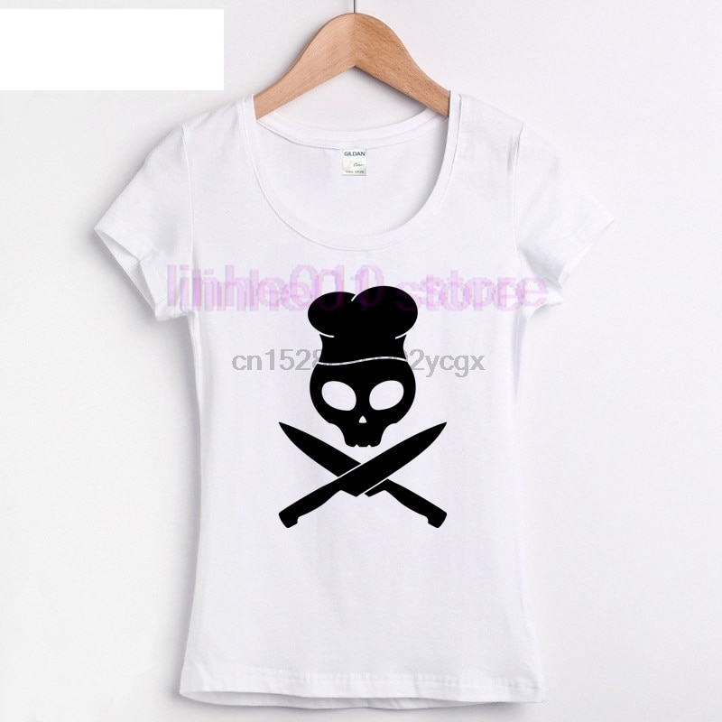 Chef Skull Master Bbq delantal pantalones sombrero 2019 comprar camiseta en línea Hop para hombre Camiseta Venta de punto para hombre Camiseta uniforme