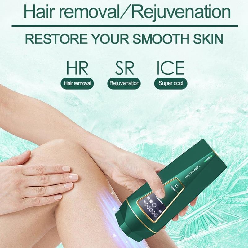 Lescolton Icecool IPL Hair Removal Machine UV Disinfection Base All in One Laser Epilator Women Men Body Depilation Tool enlarge