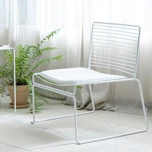 Leisure Dinning Chair Light Luxury Coffee Shop Makeup Chair sillas de comedor Mental Garden Chair With Cushion Restaurant 의자