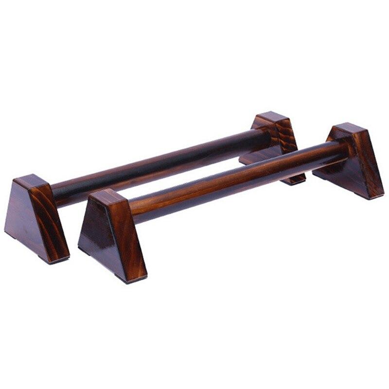 Nowe 40CM drewniane stojaki Push-Up uchwyt ręczny balans równoległy Bar sprzęt do kulturystyki Fitness