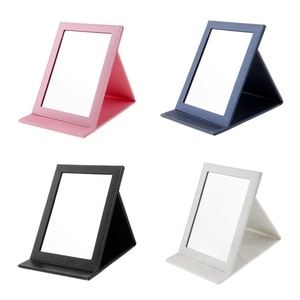 Women Gift Voucher PU Leather Wrapped Makeup Mirror - Compact for Home,
