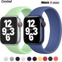 Ремешок для часов Solo, силиконовый, для Apple Watch Band 44 мм 40 мм, iWatch Band 38 мм 42 мм, Apple watch Series 6/5/4/3/SE