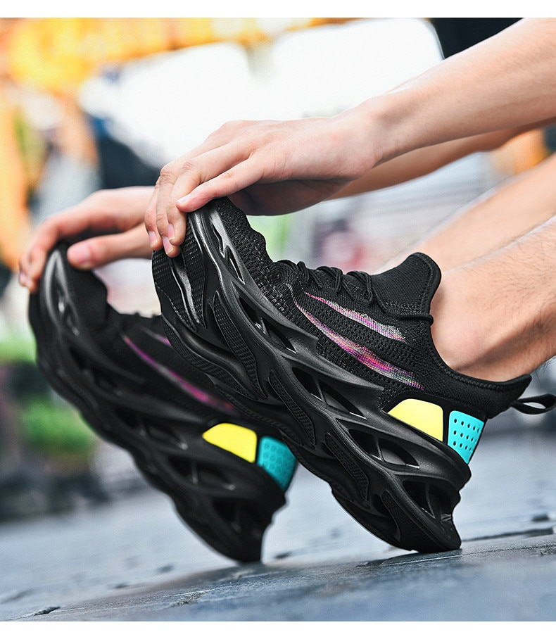 Nuevos zapatos de correr de talla grande para Hombre, zapatos deportivos transpirables, cordones de calzado con amortiguación de aire, zapatos informales para correr y caminar, Zapatillas para Hombre