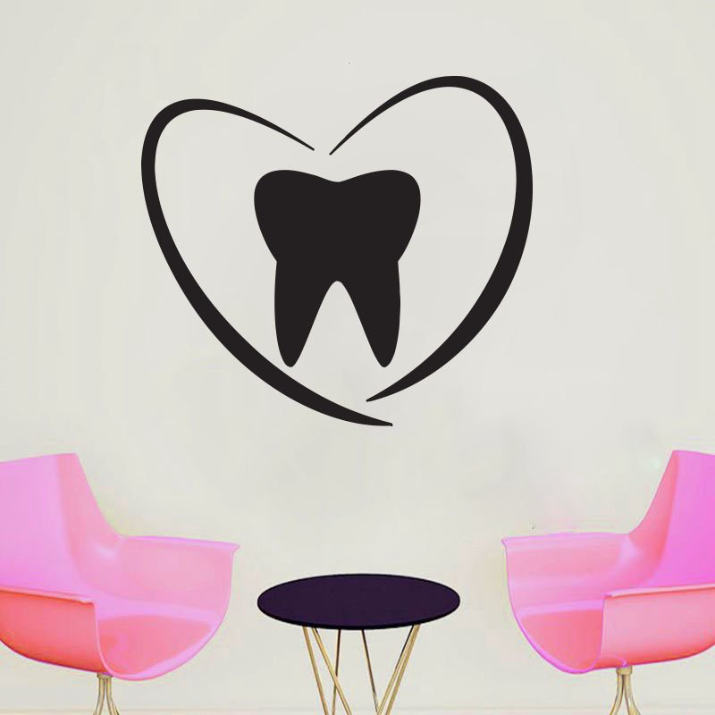 WJWY Наклейка на стену для стоматолога, улыбки, стоматологическая клиника, окно, наклейка на стену, украшение для зубов, обои, художественные р...