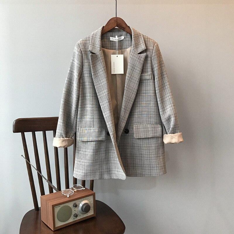 retro blazer female loose leisure women coat