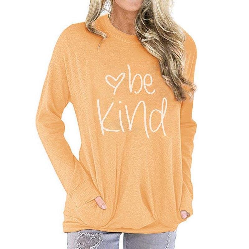 Camisetas básicas de talla grande de manga larga informales con letras de girasol para mujer