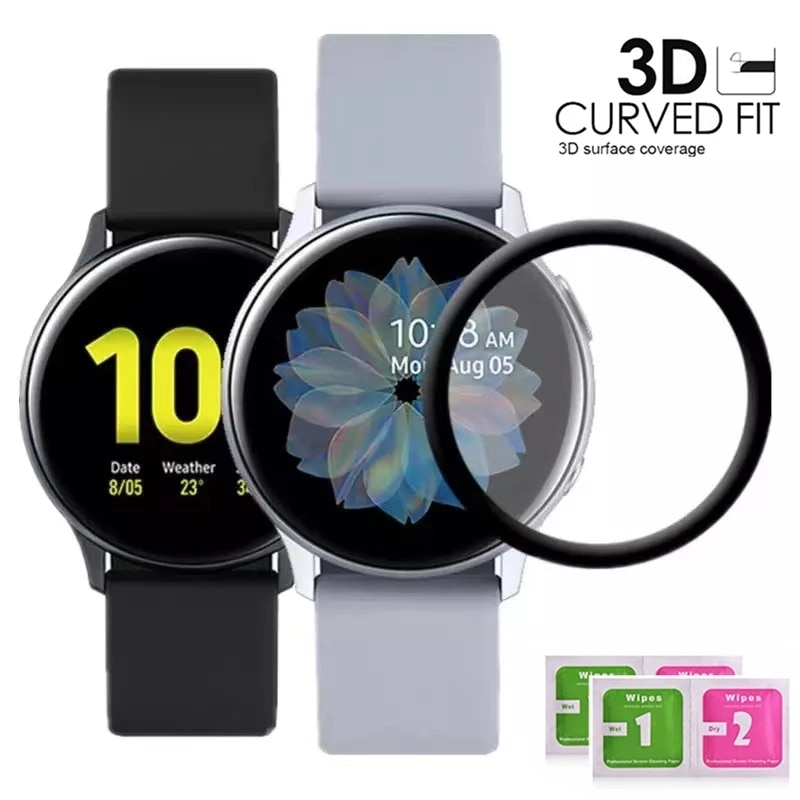 20D Curved Edge Tempered Glass For Samsung Galaxy Watch Active 2 40MM & 44MM Smart Watch Screen Prot