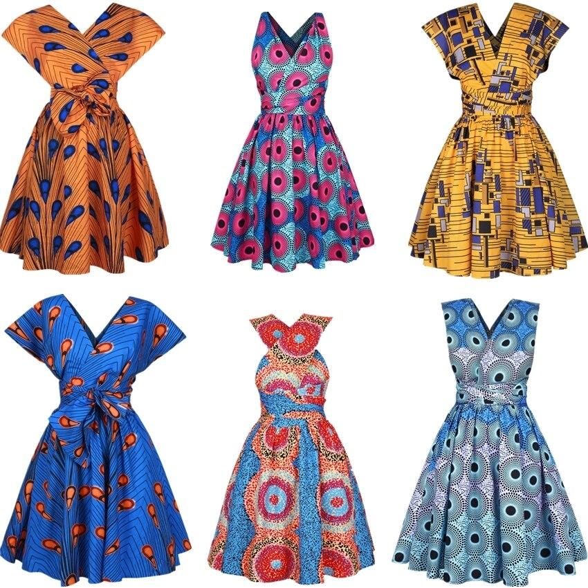 2020 nuevo Floral nacional impresión africanos vestidos para las mujeres en la fiesta plisado Noble Dashiki Bazin africano ropa Riche Mujer