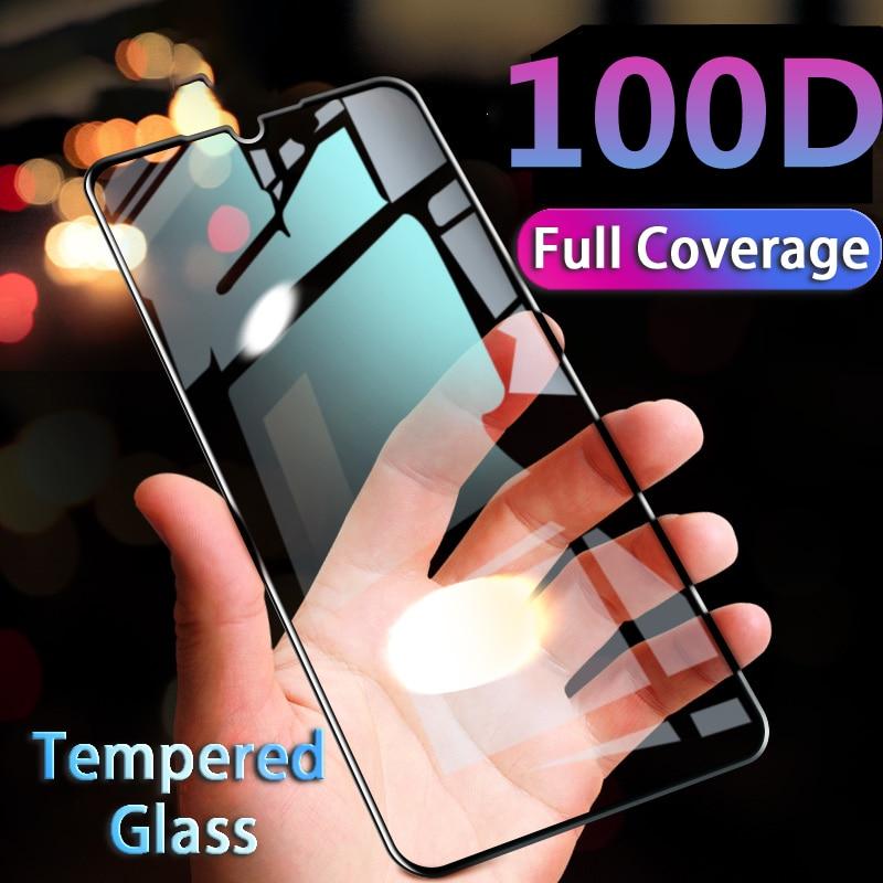 100D Full Cover Screen Protector Glass on For Huawei P9 P10 P20 P30 Lite Black Tempered Glass For Huawei Nova 2S 3I 4E Hard Film